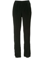 Vince Crinkle Pleat Trousers Black