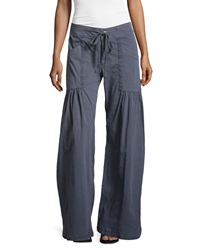 Xcvi Willowy Wide Leg Drawstring Cargo Pants Aegean Sea