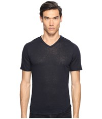 Vince Raw Edge Linen V Neck T Shirt Coastal