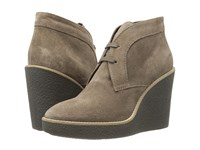 Aquatalia By Marvin K Vianna Taupe Suede Women's Wedge Shoes