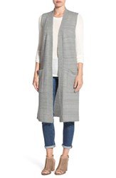 Echo Women's Knit Long Vest Heather Gray