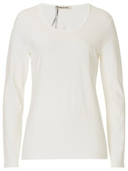 Betty Barclay Long Sleeved T Shirt Off White