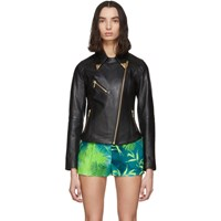 Versace Jeans Couture Black Leather Jacket