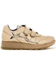 Stella Mccartney Paneled Velcro Sneakers Metallic