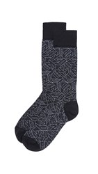 Kenzo Flying Logo Socks Black White