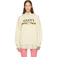 Gucci Off White Sequin Logo Hoodie