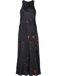 Alexander Wang Splatter Print Dress Black