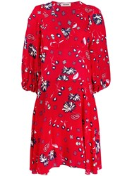 Zadig And Voltaire Floral Day Dress Red
