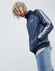 Diadora Offside Track Jacket With Taping In Navy