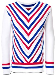 Y Project V Striped Pullover White
