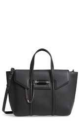 Mackage Small Barton Leather Tote Black Black Gunmetal