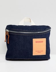 Weekday Limited Collection Denim Cross Body Bag Raw Denim Blue