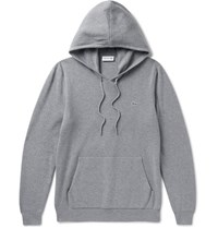 Lacoste Knitted Cotton Hoodie Gray