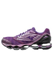 Mizuno Wave Prophecy 5 Cushioned Running Shoes Hyacinth Violet Royal Purple Black