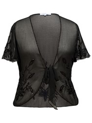 Chesca Beaded Shrug Black