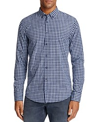 Boss Orange Edipoe Check Slim Fit Button Down Shirt Navy
