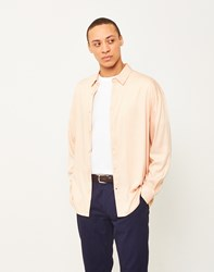 The Idle Man Viscose Long Sleeve Shirt Pink