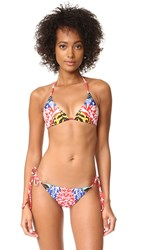 Mara Hoffman String Tie Bikini Top Red Multi