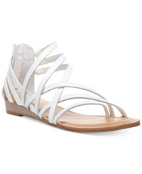Carlos By Carlos Santana Amara Flat Sandals Women's Shoes White