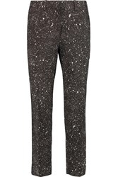 Jonathan Saunders Francine Silk And Wool Blend Tapered Pants Black