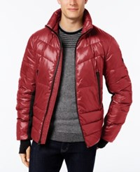 Michael Kors Big And Tall Ski Down Coat Red Ochre
