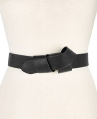 Inc International Concepts I.N.C. Knotted Belt Black