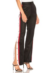 Lovers Friends Tailored Snap Track Pant Black