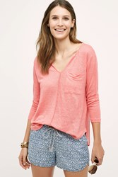 Bordeaux Sami Linen Top Pink