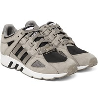 Adidas Equipment Running Guidance 93 Nubuck Leather And Mesh Sneakers Stone