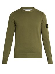 Stone Island Crew Neck Cotton Sweater Khaki
