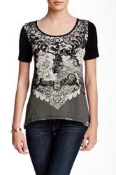 Vanilla Sugar Avril Printed Short Sleeve Tee Petite Black
