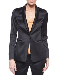 The Row Satin Single Button Tuxedo Jacket Black