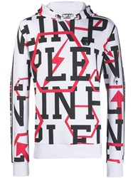 Philipp Plein Geometric Print Sweater White