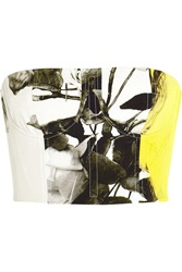 Christopher Kane Printed Silk Bustier Yellow