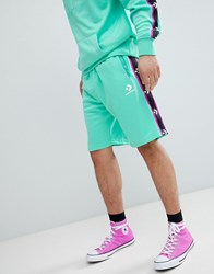 Converse Shorts With Taped Side Stripes In Green 10007589 A05
