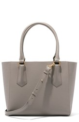 Dagne Dover 365 Signature Midi Faux Leather Tote Grey Bleecker Blush