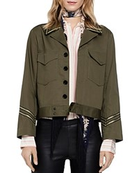 Zadig And Voltaire Kalen Military Style Jacket Khaki