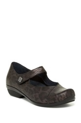 Dansko Opal Metallic Leopard Print Mary Jane Pump Brown