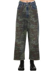 Diesel D Luite High Rise Camo Denim Jeans Blue Camo