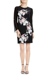 Vince Camuto Women's Winter Garland Print Shift Dress