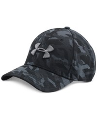 Under Armour Men's Printed Heatgear Logo Hat Black Camo