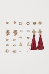 Handm H M 12 Pairs Earrings Red