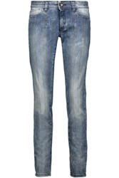 Just Cavalli Low Rise Studded Skinny Jeans Mid Denim