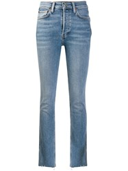 Re Done Skinny Faded Jeans Blue