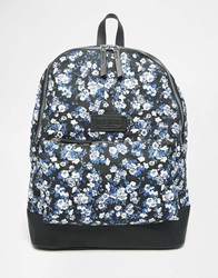 Jack Wills Heritage Canvas Backpack With Leather Trims Navyditsy