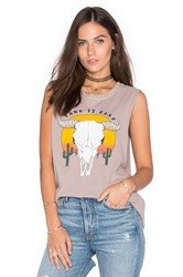 Project Social T Take It Easy Muscle Tank Taupe