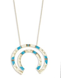 House Of Harlow Deco Semi Circle Statement Necklace Turquoise