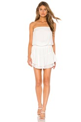 Krisa Smocked Strapless Mini Dress White
