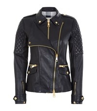 Burberry Brit Remmington Double Front Leather Jacket Female Black