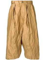 Forme D'expression Tailored Sarouel Pants Brown